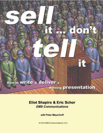 Sell It, Don't Tell It - Ebook Cover by EMS Communications